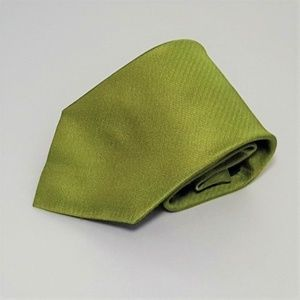 Men's Chartreuse Mad Men Business Casual Work Tie